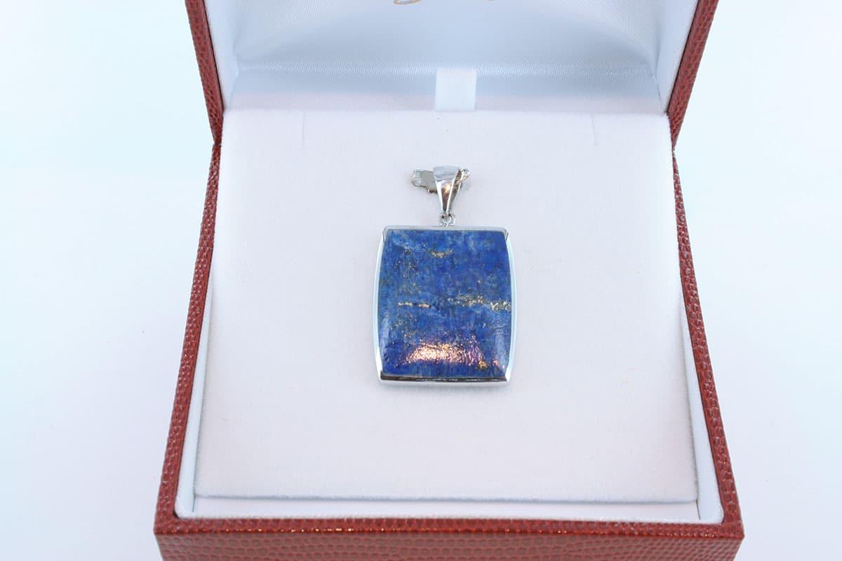 pendentif en lapis lazuli et argent 925 par 1000 PE-LA-LA-AR-012