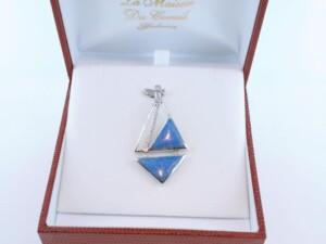 pendentif en lapis lazuli et argent 925 par 1000 PE-LA-LA-AR-016