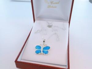 Pendentif en opale et argent 925 par 1000 PE-OP-BL-001