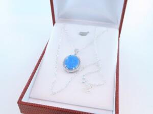 Pendentif en opale et argent 925 par 1000 PE-OP-BL-003