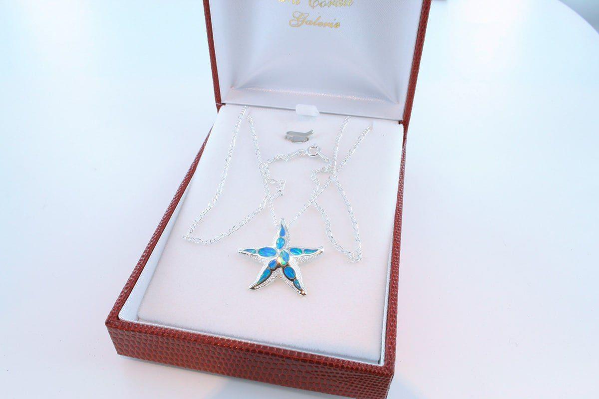 Pendentif en opale et argent 925 par 1000 PE-OP-BL-007