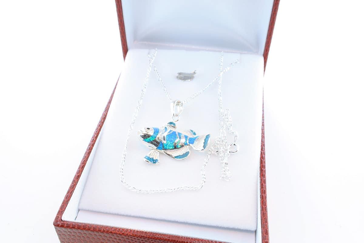 Pendentif en opale et argent 925 par 1000 PE-OP-BL-009