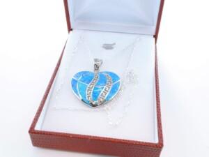 Pendentif en opale et argent 925 par 1000 PE-OP-BL-010