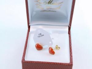 boucles d'oreilles en corail rouge et or 750 par 1000 BO-CO-OR-003