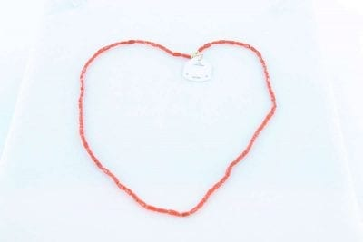 Collier en corail rouge et or 750 par 1000 CO-CO-OR-002