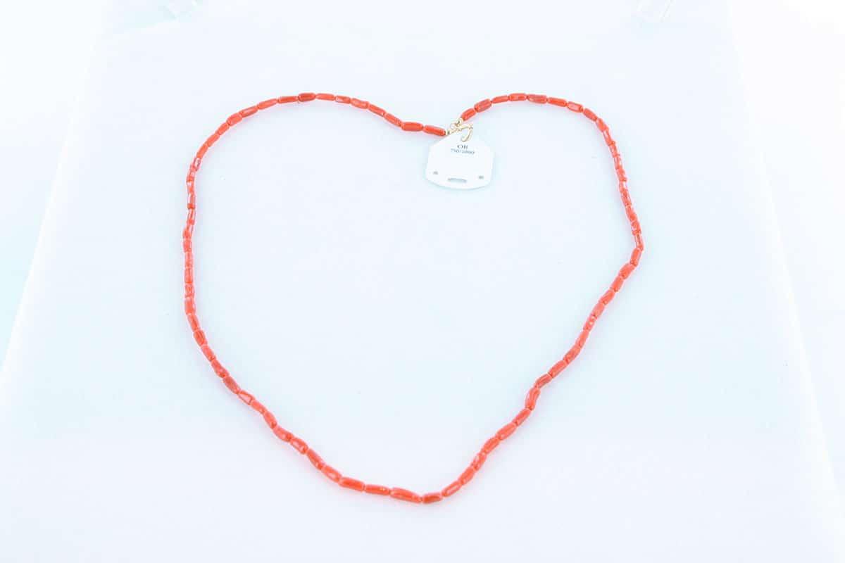 Collier en corail rouge et or 750 par 1000 CO-CO-OR-002