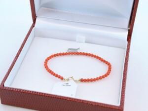 Bracelet en corail rouge et or 750 par 1000 BR-CO-OR-003