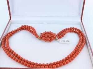 Collier en corail rouge et or 750 par 1000 CO-CO-OR-006