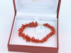 Bracelet en corail rouge et or 750 par 1000 BR-CO-OR-005