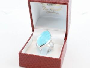 bague en turquoise véritable et argent 925 1000 BA-TU-AR-004