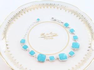 bracelet en turquoise véritable et argent 925 1000 BR-TU-AR-001