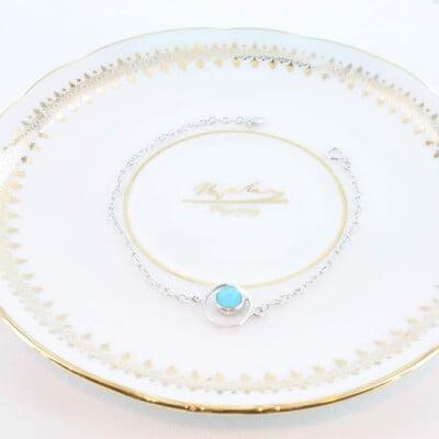 bracelet en turquoise véritable et argent 925 1000 BR-TU-AR-005